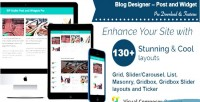 Designer blog post pro widget and