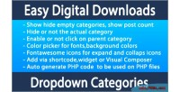 Digital easy downloads dropdown categories edd