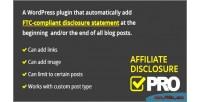 Disclosure affiliate plugin wordpress pro
