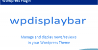 Display wordpress bar