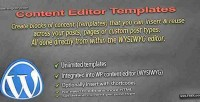 Editor content wordpress for templates
