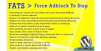 Fats force adblock to plugin wordpress stop