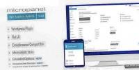 Flat micropanel theme admin wordpress