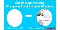 Google maps scraping wordpress business local directory