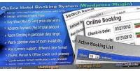 Online hotel booking system plugin wordpress