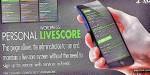 Livescore personal