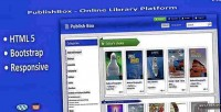 Online publishbox library platform