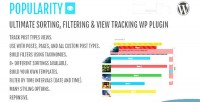 Popularity filtering & view plugin wp tracking