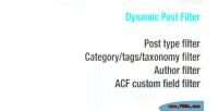 Post dynamic filter