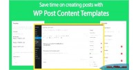 Post wp content template
