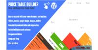 Price table builder drag plugin wp drop