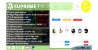 Pricing supreme plugin wordpress tables