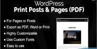 Print wordpress posts pdf pages