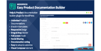 Product easy documentation wordpress for builder