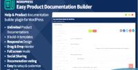 Product easy documentation wordpress for builder