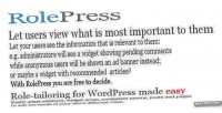 Rolepress role tailoring for easy made wordpress