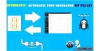 Spintax spinomatic post wordpress generator for plugin