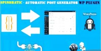 Spintax spinomatic post wordpress generator for plugin