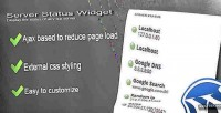 Status server widget