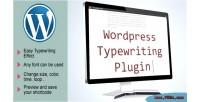 Typewriting wordpress plugin