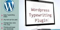Typewriting wordpress plugin