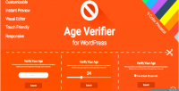 Verifier age for wordpress