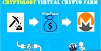 Virtual cryptoloot crypto wordpress farm for plugin