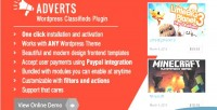 Wordpress adverts classifieds plugin