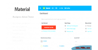 Wordpress materil material theme admin design