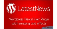 Wordpress news ticker with effects text amazing