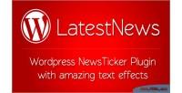Wordpress news ticker with effects text amazing