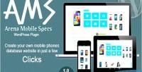 Mobile arena plugin wordpress specs