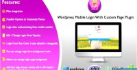 Mobile wordpress login plugin with page custom