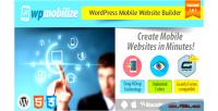 Mobile wordpress plugin builder website
