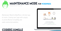 Mode maintenance for wordpress