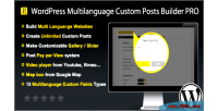 Multilanguage wordpress custom pro builder posts