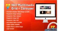 Multimedia neo grid carousel