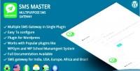 Multipurpose smsmaster sms wordpress for gateway