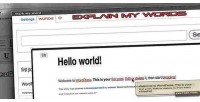 My explain plugin wordpress words
