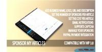 My sponsor articles