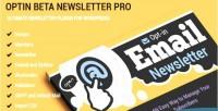 Beta optin newsletter pro