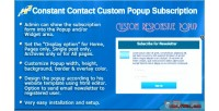 Constant contact custom popup wp for subscription