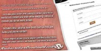 Content subscriber wordpress for lock