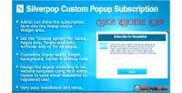 Custom silverpop popup wordpress for subscription