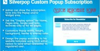 Custom silverpop popup wordpress for subscription