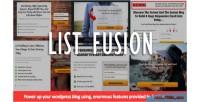 Fusion list wordpress plugin