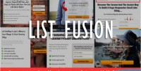 Fusion list wordpress plugin