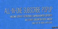 In all popup subscribe one