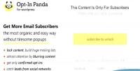 In opt wordpress for panda