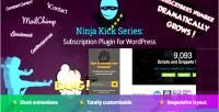 Kick ninja plugin wordpress subscription